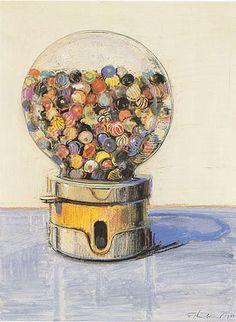 Wayne Thiebaud Candy Ball Machine