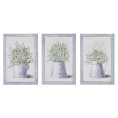 3 cuadros de madera 20 x 31 cm GARDENNING