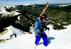 Ryan DeBue hikes Kachina Peak on Friday (March 21) for the 18th annual Ben Myers Ridge-A-Thon. DeBue and his teammate, Eliana Lerman, skied 30 ridge runs during the two-day event. @ Taos, NM