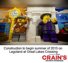 """Construction is set to begin this summer on the new Legoland Discovery Center Michigan at Great Lakes Crossing Outlets in Auburn Hills, Michigan. The new attraction, London-based Merlin Entertainment plc's eighth in the U.S., is set to open in the spring of 2016. Great Lakes Crossing Outlets is the ideal location for a Legoland Discover Center """"as the mall is already a favored destination for Michigan families and tourists from the region,"""""""