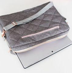 Stylishes Laptopcase im Quiltlook - Nähanleitung und Schnittmuster via Makerist.de
