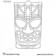 totem pole faces coloring pages - tiki mask template kids stuff pinterest tiki mask