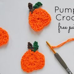 Check out this cute pumpkin crochet free pattern perfect for fall. Attach it to a pillow, make a garland, you choose how to use this crochet pumpkin. Easy Crochet Patterns, Knitting Patterns Free, Free Pattern, Knitting Ideas, Knit Or Crochet, Free Crochet, Crochet Stitches, Knitted Throws, Crochet Blankets