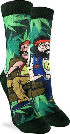 dbfb39b0dbdd3 ... leaf cannabis inspired hats shoes socks by Lorjos lifestyle. Good Luck  Sock Women s Cheech   Chong on Couch Crew Socks - Adult Shoe ...