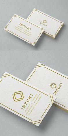 Minimal Gold Business Card #minimaldesign #businesscard #psdtemplate #branding #identity #cleandesign #simpledesign #minimalist