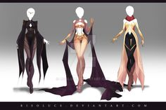 (OPEN) Adoptable Outfit Auction 142 - 144 by Risoluce.deviantart.com on @DeviantArt