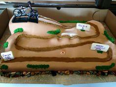 Bmx cake with track.