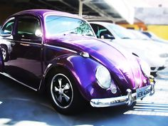 Purple VW Beetle with EMPI 5 spokes :O