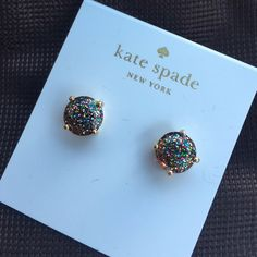 Kate Spade Glitter Studs New with tags Kate Spade Glitter Studs. PRICE FIRM - NO TRADES kate spade Jewelry Earrings