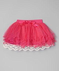 Cake smash!!!! Loving this Hot Pink Lace Tiered Tutu -