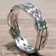 14k Gold Celtic Ring #CelticWeddingRing #GoldCelticRing #Irish #CelticRings #GoldRing #CelticRing #IrishRing Irish Rings, Celtic Rings, Celtic Wedding Rings, Silver Claddagh Ring, Claddagh Rings, Celtic Patterns, Gold Rings, Rings For Men, Band