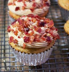 Recipe For French Toast Muffins - These muffins reminded me of French toast and they were awesome.If you go all out with the crumbled bacon, it's more of an adventure.