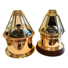 Ships Nautical Skylight Binnacle Polished Brass   USA  c.1935