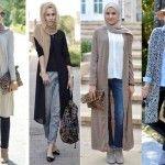 Stylish hijabi street styles