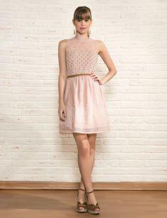 Vestido Antix quadradinhos