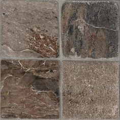 Style Selections�12-in x 12-in Tumbled Stone Slate Finish Vinyl Tile  Laundry room & closet revamp!