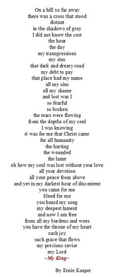 I felt pressed to write this poem and so here it is. ~My King~ #poetry   #salvation   #praise