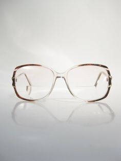 1970s Tortoiseshell Glasses Eyeglasses Oversized by OliverandAlexa