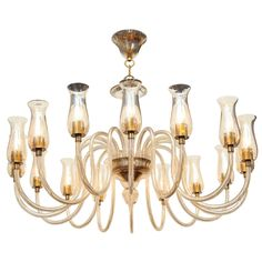 chandelier above sofa area (1stdibs - Superb Grand Scale Murano Sixteen Arm Chandelier)