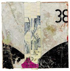 """Lars Pryds: """"38 and Pink"""", 2013. Collage, acryl og lak på pap. 14,5 x 14,5 cm."""