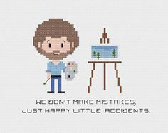 Bob Ross Cross Stitch PDF Pattern by HugSandwich on Etsy
