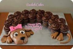 Doggie cupcake  cake