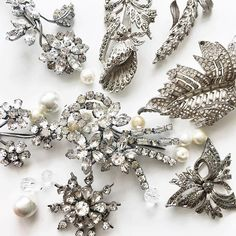 Found some real vintage treasures for my latest brooch bouquet commission - I'll be a little bit sad to lose these beauties but it's nice to know that they will become a lovely bride's treasured heirloom wedding accessory! x
