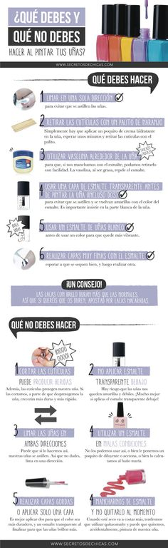 Consejos, tips. Beauty Make Up, Beauty Care, Pretty Nails, Love Nails, Beauty Nails, Hair Beauty, Manicure Y Pedicure, Tips Belleza, Nail Tips
