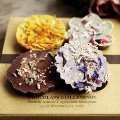 CHOC'FLEURS 花チョコレート 4個ギフトセット/ショックフルール