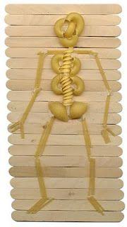 My Body Theme - Preschool: Pasta Skeleton