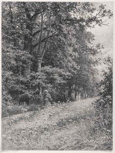 ИВАН ШИШКИН Женщина на опушке леса (На лесной меже). 1878