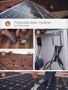 Die Aufdachmontage im Detail: Wir wollten die Technik für die Photovoltaik selber montieren und haben dabei alle Arbeitsgänge festgehalten – Schritt für Schritt.
