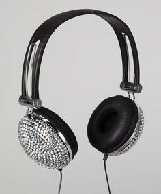 White Bling Rhinestone Headphones