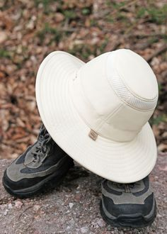 80cec45b -a lightweight Supplex nylon hat with a broader down-sloping brim for  protection from