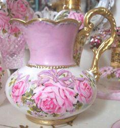 Romantic Porcelain Pitcher
