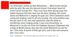 Les Miserables movie review by Sam Richardson
