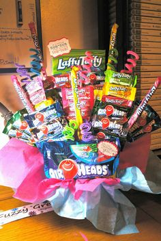 Air heads and Laffy Taffy candy bouquet.