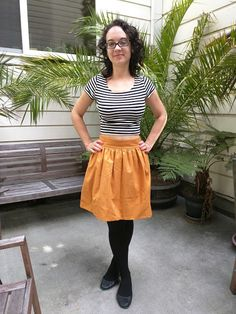Caitlin's Clemence skirt - sewing pattern in Love at First Stitch
