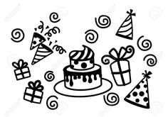 Birthday Cake Hat Party Vector Royalty Free Cliparts, Vectors, And Stock Illustration. Image 26837818.