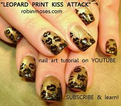 Leopard Kiss Nail Art