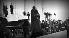 Echoes from Marian Anderson's defiant performance Marian Anderson, the legendary African-American contralto, sang at the Lincoln Memorial 75 years ago after she was refused a performance at Washington's Constitution Hall. Young people gathered to commemorate Anderson's effort to strike out against racism through the power and beauty of her voice. PBS Newshour http://www.pbs.org/newshour/bb/marian-anderson-civil-rights-milestone/