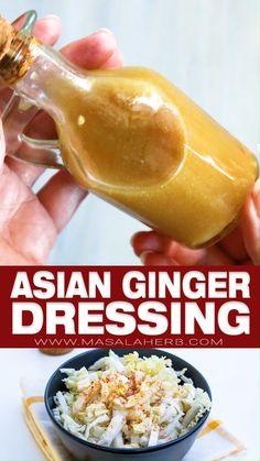 Indian Food Recipes, Asian Recipes, Vegetarian Recipes, Cooking Recipes, Croatian Recipes, Hungarian Recipes, Cleaning Recipes, Asian Ginger Dressing, Asian Vinaigrette Dressing Recipe