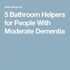 Dementia Bathroom And Design On Pinterest