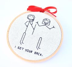 "Items similar to Funny Christmas Ornament, ""I got your back"" Stick Figure Ornament on Etsy"