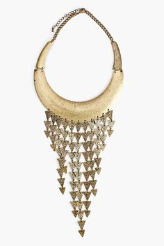 Straight Arrows Collar Necklace