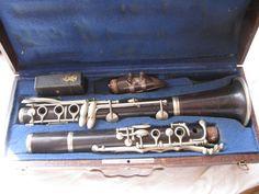 clarinete antiguo en caja . articulo de Tiendarústica.com