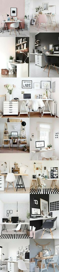 room items that will make your space super cool!dorm room items that will make your space super cool! home office desk Sleek. A Tylko shelf is the new, modern way to get organised: Home Office Design, Home Office Decor, Home Decor, Office Ideas, Desk Ideas, Decor Diy, Wall Decor, Room Interior, Interior Design Living Room