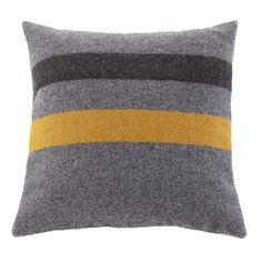 Foot Soldier Wool Pillow - Gray/Gold/Black