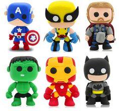 Marvel The Avengers argila cor DIY Q Super heros capitão américa Ironman Hulk Wolverine Batman figuras de ação brinquedos clássico