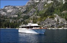 Certainly the most graceful yacht on Lake Tahoe, the Safari Rose awaits you for a memorable outing on this spectacular mountain lake. Style and elegance are reflected in every facet of this classic yacht. Lake Tahoe Vacation, Cruises, Safari, How To Memorize Things, Boat, Classic, Photos, Derby, Dinghy